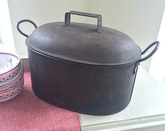 Large Old Metal Cooking Pot