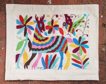 Mexican Pillow Case // Otomi (Deer)