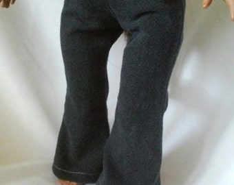 18 Inch Doll Flared Jeans-Black