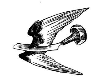 Winged Burin, wood engraving