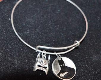 Expandable Bracelet with Authentic Batman Charms
