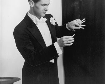 Legendary Entertainer Johnny Carson as a Young Magician - 5X7, 8X10 or 11X14 Photo (AA-038)
