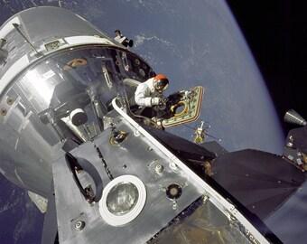 "Apollo 9 Mission Command Module ""Gumdrop"" Meets Lunar Module ""Spider"" - 5X7, 8X10 or 11X14 NASA Photo (EP-501)"