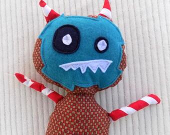 Monster Stuffed Animal, Monster Plush Toy, Plush Stuffed Animal, Child's Stuffie, Child's Toy Monster, Plush Monster