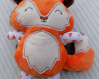 Orange Fox Stuffed Animal, Baby Fox Stuffed Animal, Nursery Decor, Fox Plush Toy, Personalized Fox Stuffed Animal