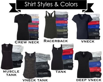 Customize a Shirt: Women's Personalized Tee Tank Vneck Crew Neck Logo Design or Text