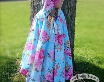 Full length stunning hooded  cape for girls