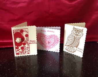 Hand crafter greeting cards