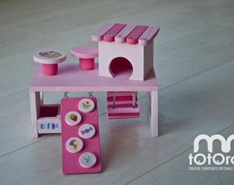 Hamster House/ Hut/Activity Center/ Platform/Toy