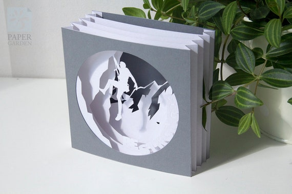 papercut template tunnel card be stronger instant download