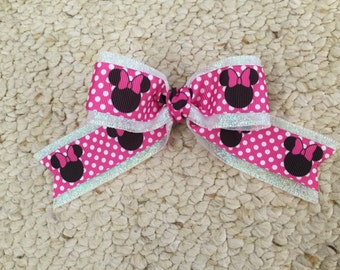 Minne Mouse Inspired Hair Bow