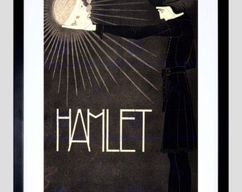 Theatre Advert Lay Hamlet Shakespeare Netherlands New Art Print Poster FECC2839