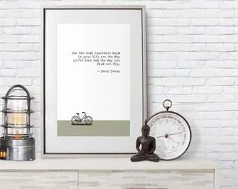 Mark Twain Quote - Poster Print - Important