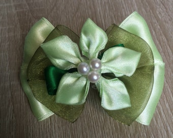 Tiana inspired Hair Bow - The Princess and the Frog