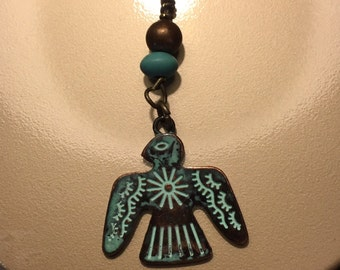 Leather Eagle Necklace