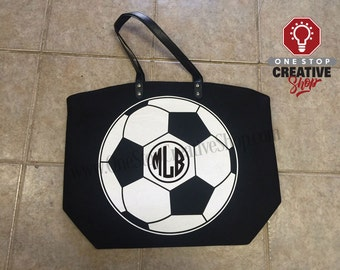 HUGE Soccer Tote Bag Personalized Monogram Custom Name