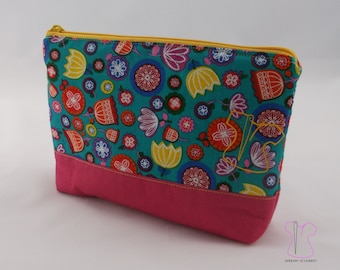 Pouch floral pink