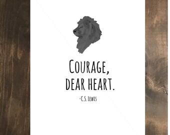 Courage- Narnia Digital Art Print