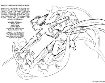 Real World Hero Classes: Deadline Slayer! Coloring Page