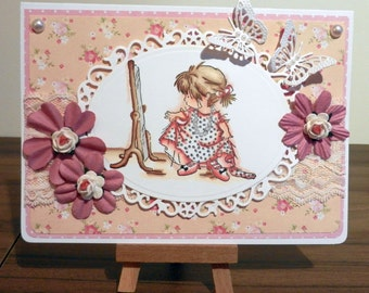 """Lili of the Valley - Dressing Up 5"""" x 7"""" card"""