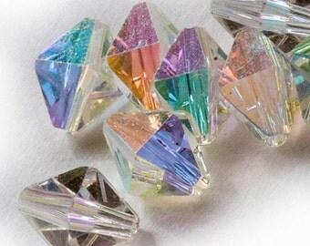 5121 Vintage Swarovski® 8.5mm x 6.5mm Diamond shape-Crystal AB