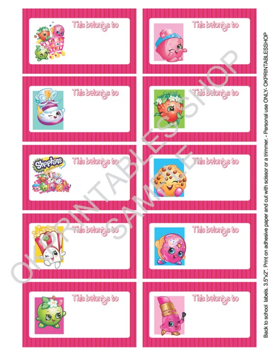 It's just a picture of Hilaire Free Printable Shopkins Food Labels