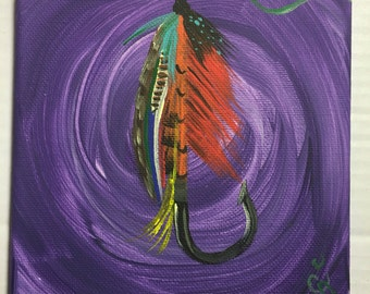 Acrylic fly lure painting