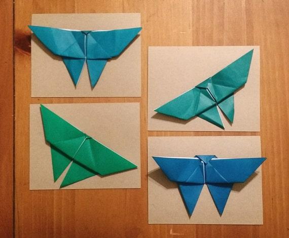Origami Ombre Butterflies