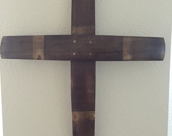 Wine barrel stave Cross