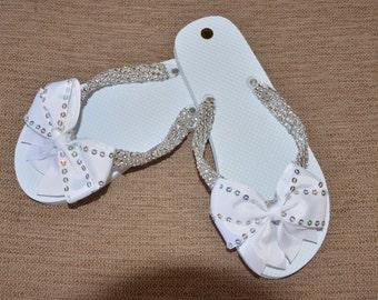 Design White Flip Flops (small)