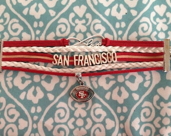 SAN FRANCISCO 49ER BRACELET
