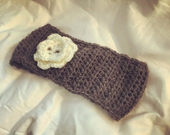 Handmade Crochet HeadBand With Flower