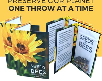 Seeds For Bees: 4x Bee Friendly 'Throw to Grow' Super-Mix. As funded on Kickstarter