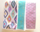 Baby Burp Cloths - Set of 3 - Souhwestern in style!