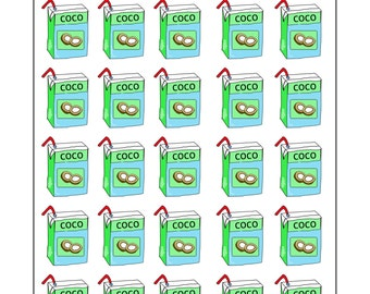 Coconut water stickers