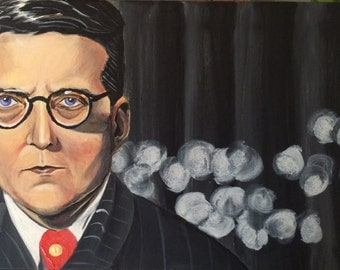 Shostakovich Classical Composer Painting