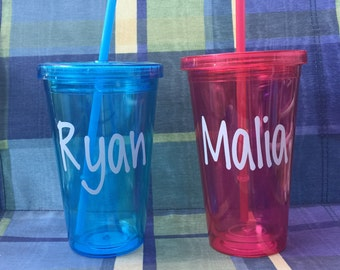 Personalized cup with straw/Personalized Tumbler/Personalized Cup/Personalized Gift/Colorful Tumbler/Tumbler w/Straw