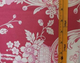 Westminster Fibers Free Spirit, Verna Mosquera, Tea Cakes Strawberry Toile, MV44 Strawberry, quilting fabric