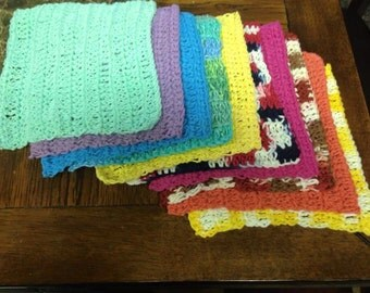 Crochet dishcloths (3 per set)