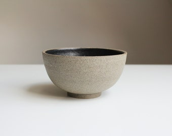 Ceramic bowl, stone colors, hand-turned.