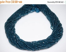 45% OFF AAA Quality Cutting London Blue Topaz Rondelle Beads 13 Inch Strand ,London BT Faceted Rondelle Beads , 2 mm - Mc058