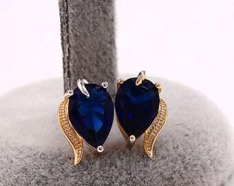 Stud earrings, CZ earrings, multicolor earrings (187)