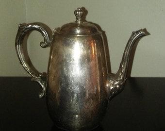 Wm. Rogers & Son Spring Flower Silverplate Tea/Coffee pot