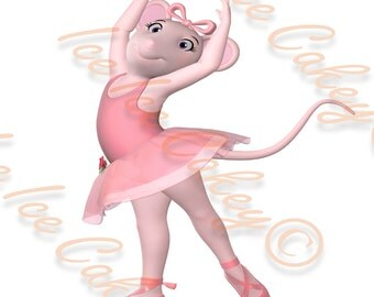 Angelina Ballerina Rectangle Cake Topper