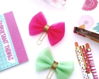 MINI Tulle planner clip bow clip