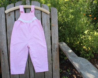 Pink Pinstripe Overalls