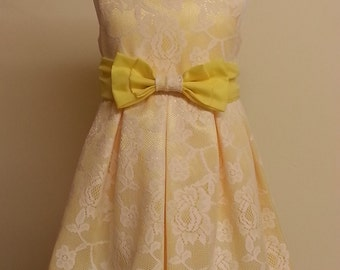 fully lined Handmade girls occasion dress