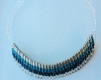 Safety Pins Necklace, Special Necklace, Original  Necklace, Unique Necklace