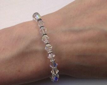 Swarovski Crystals Bracelet, Elegant Bracelet, White Swarovski Bracelet