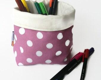 fabric basket, organizer, fabric storage box, make up organizer